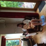 Enjoying a pedicure at hen pamper party