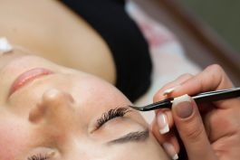 tinting of brows or lashes